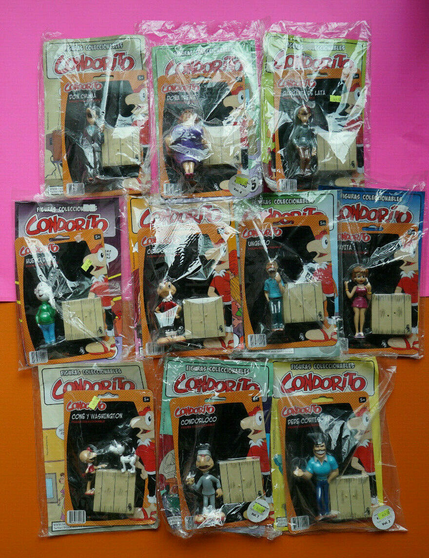 CONDORITO & FRIENDS Complete Collection of 10 Characters  figures Comics
