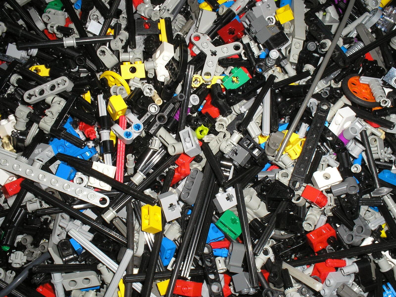 Vrac de 1000 petites pièces LEGO TECHNIC / pin - pièces de connexion - tiges etc