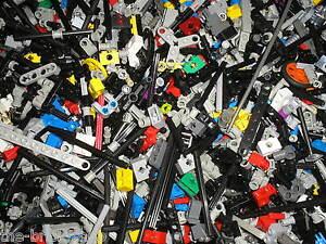 Vrac-de-500-petites-pieces-LEGO-TECHNIC-pin-pieces-de-connexion-tiges-etc