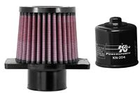 K&N Motorcycle Air Filter + Oil Filter Combo HA-5013 + KN-204