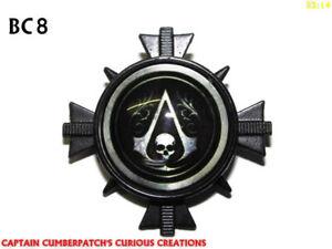 Steampunk Pin Badge Brooch Assassin S Creed Black Flag Skull Bc8