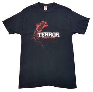 Terror-Nothing-But-Enemies-Tee-Black-Size-Large-Mens-Hardcore-Punk-T-Shirt-Tour