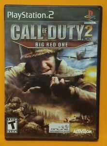 Call-Of-Duty-2-Big-Red-1-PS2-Playstation-2-COMPLETE-Game-1-Owner-Near-Mint-Disc