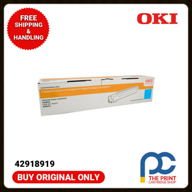 New & Original Oki 42918919 Cyan Toner Cartridge Oki C9600 C9650 C9800 15K