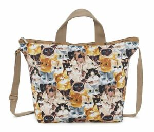LeSportsac-Cat-Cafe-Bene-Easy-Carry-Tote-Crossbody-Top-Handle-Handbag-NWT-K812