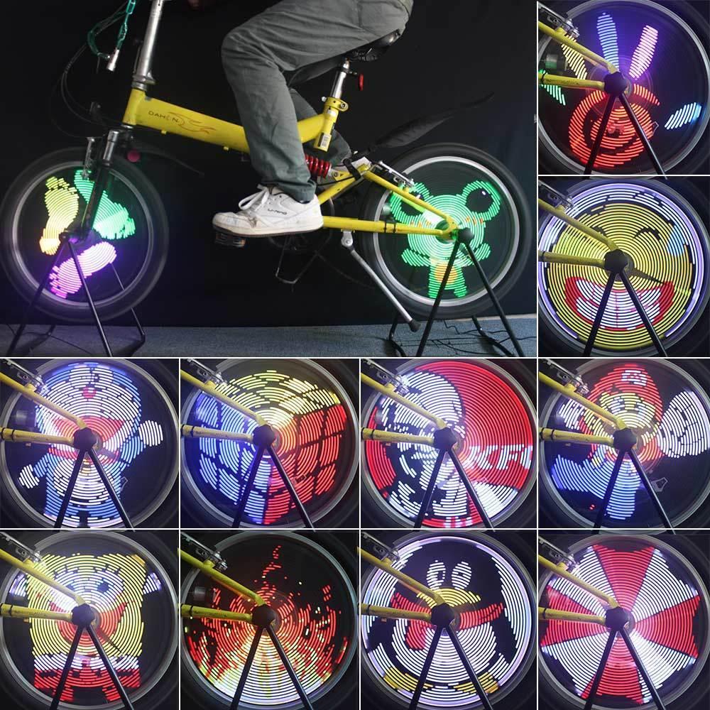 Bicycle Light Rgb Wheel Bike 128 Led Spoke Programmable Waterproof Tire Coloreeful
