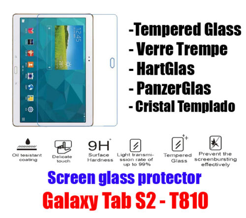 "Galaxy Tab S2 9.7/"" T810 815 813 819 Tempered Glass Verre Trempe Hartglas id"