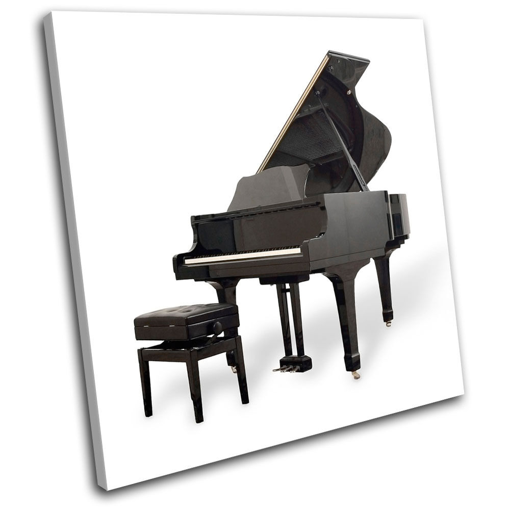 Piano INSTRUMENTS Musical SINGLE TELA parete arte arte arte foto stampa aac5ef