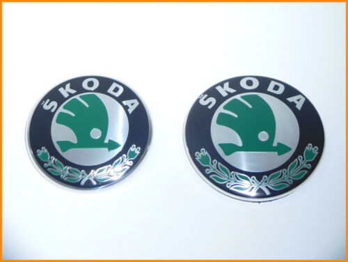 SKODA FABIA II OCTAVIA II FRONT/&REAR BADGE EMBLEM LOGO 1U0853621C 3U0853621B-NEW