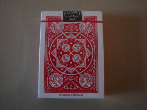TALLY-HO FAN BACK RED DECK OF PLAYING CARDS BY USPCC POKER SIZE MAGIC TRICKS