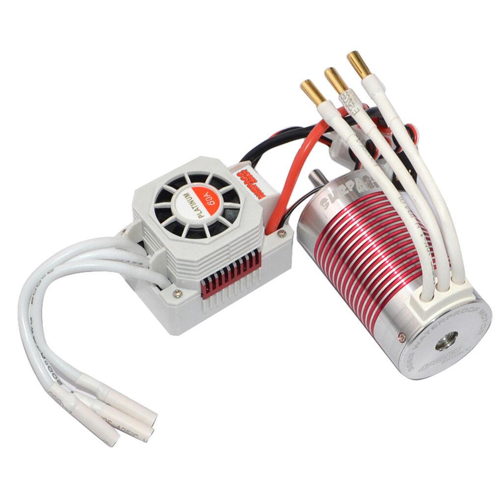 IMPERMEABILE 3665 3100kv  MOTORE BRUSHLESS 60a + ESC Combo Set per 1 10 RC  più economico