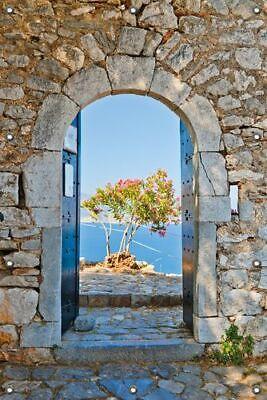 80 x 120 cm mit Fensterrahmen Wallario Garten-Poster Outdoor-Poster ca Idylli