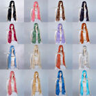 Vogue Straight Style Women Lady 100cm Long Synthetic Anime Cosplay Wigs+Wig Cap