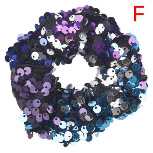 Sequin Hair Scrunchies Women Girls hair Accessories Elastic Hair Ties Fashion FG