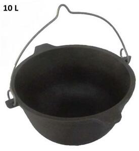 Cookware-Outdoor-Tempered-Durable-Cast-Iron-Cooking-Camping-Pan-Pot-Wok-Saucepan