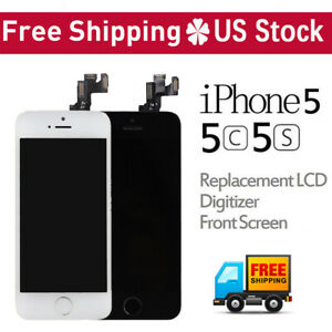 For-iPhone-5C-5S-5-LCD-Replacement-Touch-Screen-Digitizer-Assembly-With-Button