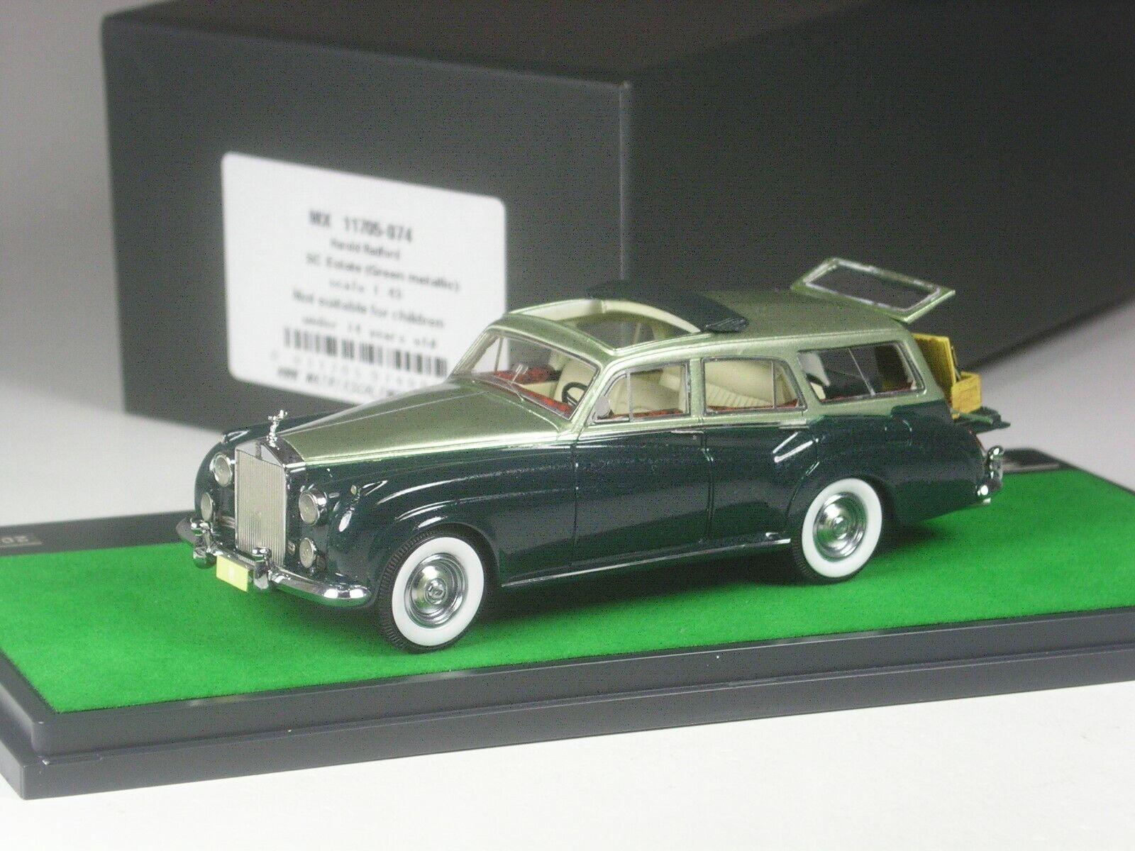 (KI-09-19) MATRIX  Rolls Royce SC Estate Combi vert with Picnic Basket 1 43 BNIB  qualité authentique