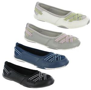 Détails sur GEOX RESPIRA Femmes Noir Cuir Verni Plates Chaussures Confort UK 6 EU 39 afficher le titre d'origine