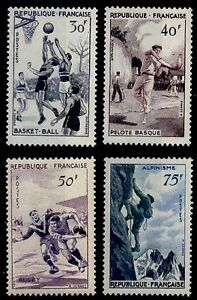 SERIE-SPORTIVE-Neufs-Cote-26-Lot-Timbres-France-1072-a-1075