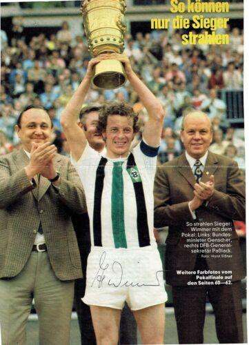 Original Autogramm Herbert  Hacki  Wimmer Borussia Mönchengladbach 20,5 x 29cm Original, nicht zertifiziert