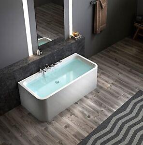 Das Bild Wird Geladen Whirlpool Freistehende Badewanne Acryl Weiss Design  Armatur Spa
