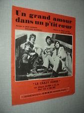 LE CRAZY HORSE PARTITION MUSICALE BELGE LE GRAND AMOUR DANS UN P'TIT 4 PAGES