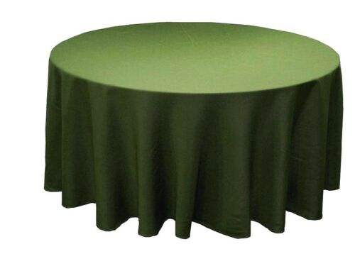 """12 Pack 132/"""" Inch round Polyester Tablecloth 24 COLOR Table Cover Wedding Party"""