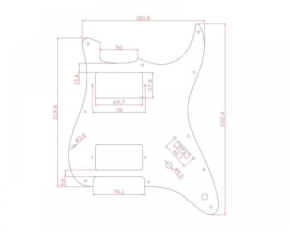 electric guitar hh pickguard for fender strat stratocaster