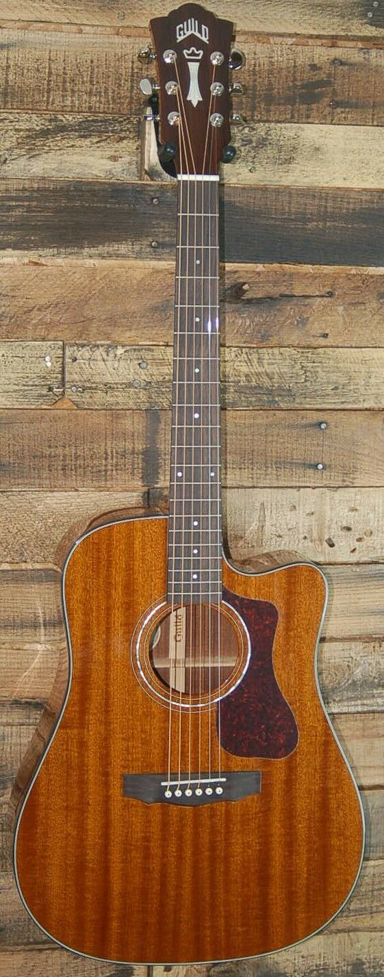 New  Guild D-120CE Natural Mahogony Acoustic-Electric Guitar with Case