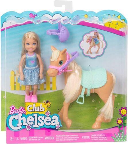NUOVA Barbie club Chelsea bambola e pony Playset