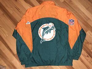 1a1c8ab6f vintage 80 s APEX ONE (pre-PRO LINE) MIAMI DOLPHINS zip jacket NFL ...