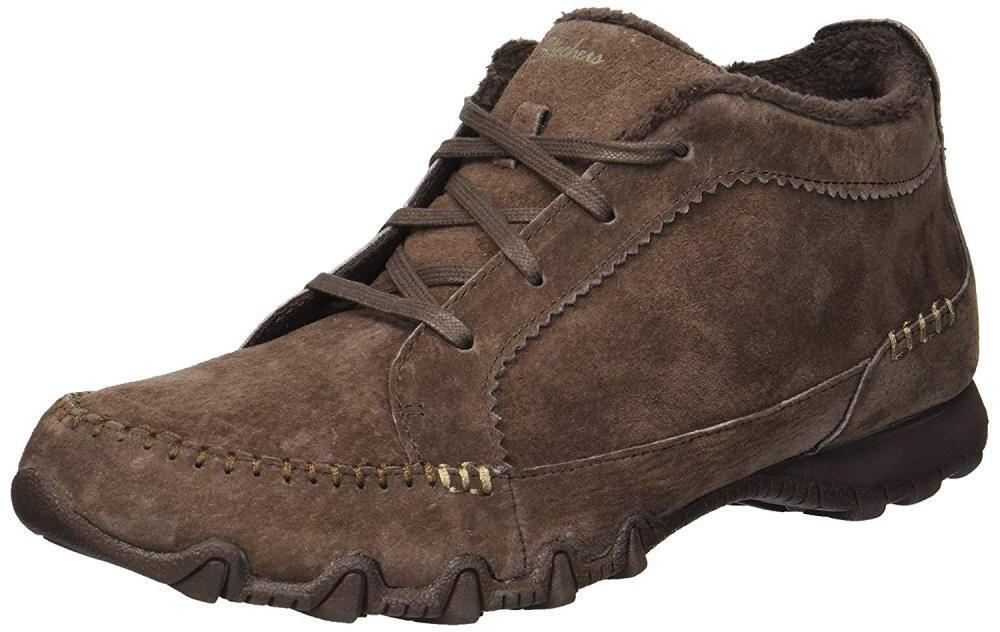 Skechers Women's Bikers-Lineage-Moc-Toe Lace-up Chukka Boot
