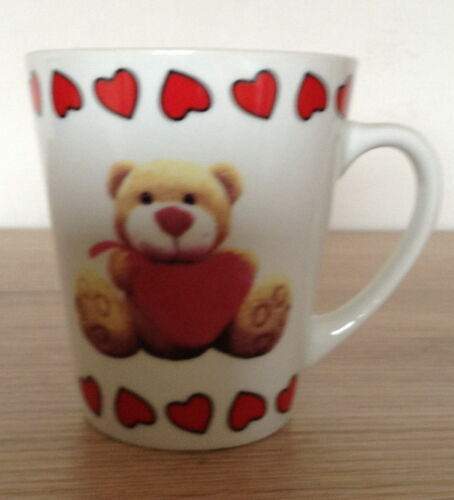 Gs-1174 h3 Cup with Motif-Teddy with Heart-with request name