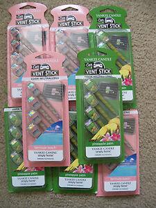 Yankee Candle Car Vent Sticks 4 Pack U Choose Scent New In
