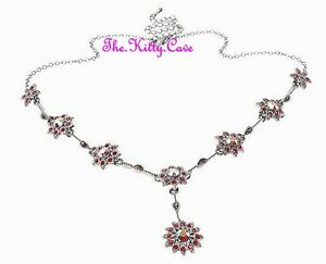 Deco-Vintage-Burlesque-Alfombra-Rojo-Glamur-Collar-con-Flor-Cristales-Swarovski