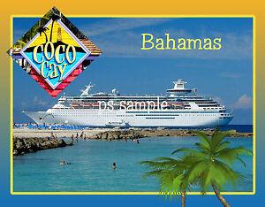 Bahamas - COCO CAY - Royal Caribbean - Travel Souvenir Fridge Magnet