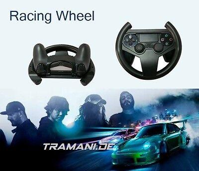 lenkrad f r ps4 controller racing wheel playstation ps 4 game pad wireless ebay. Black Bedroom Furniture Sets. Home Design Ideas