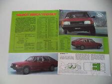 PROVA QUATTRORUOTE 1980 TALBOT SIMCA 1510 GLS