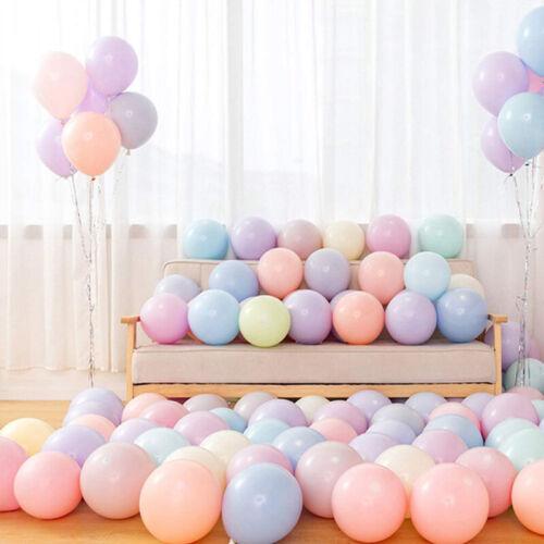 100PCS 10/'/' Macaron Pastel Latex Balloons Wedding Party Baby Shower Decor Supply