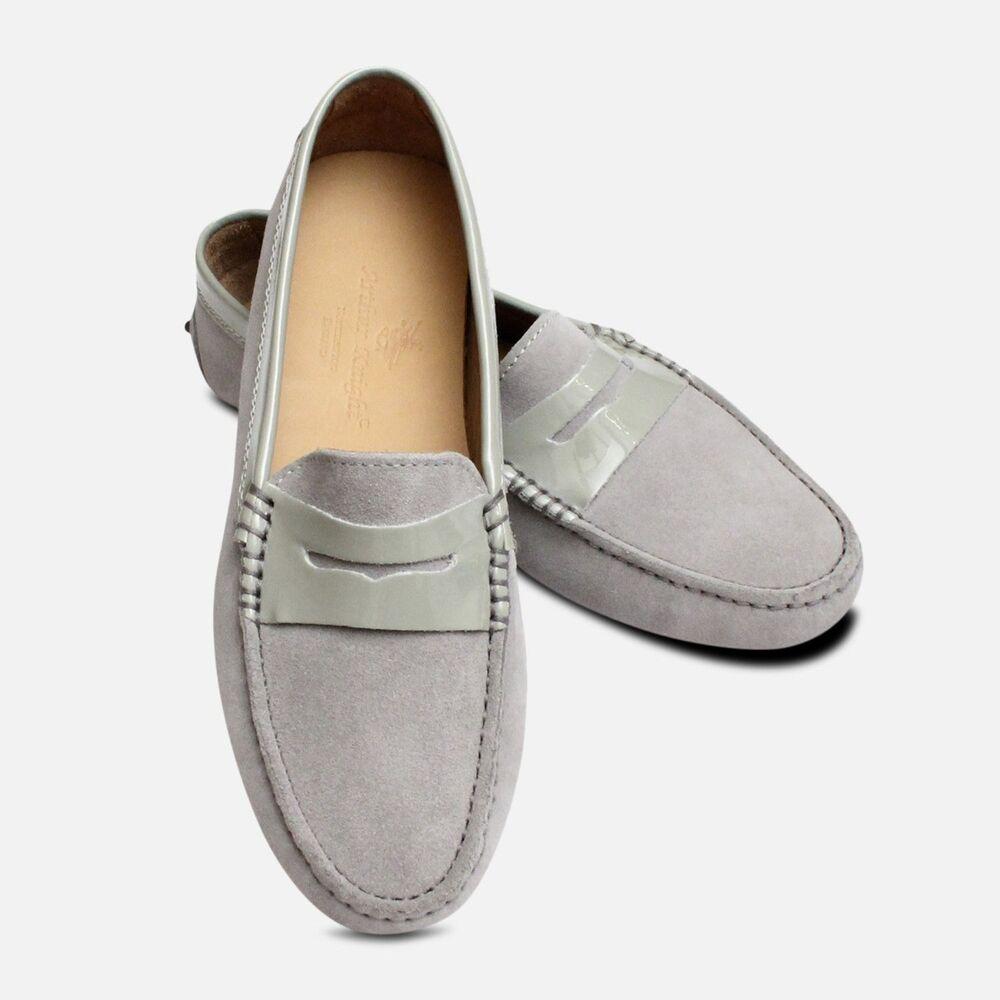 Gris Clair Daim Italien Arthur Chevalier Conduite Chaussures