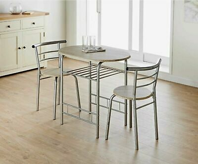 Small Dining Table And Chairs Modern Oval Bistro Set Small Breakfast Kitchen Ebay