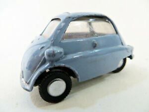 TRIANG-SPOT-ON-118-039-BMW-ISETTA-039-65-BLUE-GREY-VINTAGE-GOOD-COMPLETE-1-42