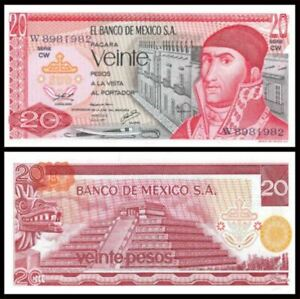 Mexico-20-Peso-8-July-1977-Series-DH-UNC-20-1977