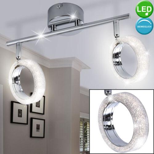 Luxus LED Steh Lampe Wand Leuchte Kristall Küchen Deko Ring Strahler beweglich