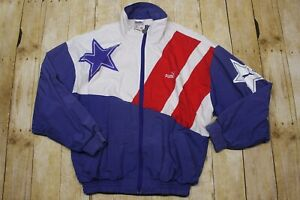 Vintage-Puma-Men-039-s-XS-Colorblock-Windbreaker-Jacket-Zip-up-USA-red-white-blue