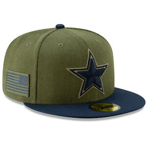 2018 Dallas Cowboys New Era 59FIFTY NFL Salute To Service Sideline ... 83d6139c4ddd