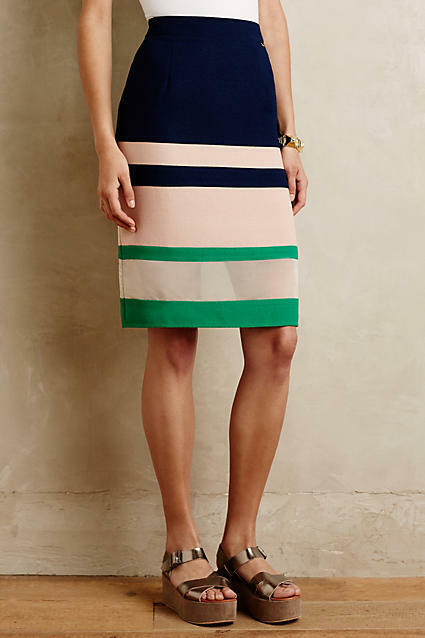 NEW ANTHROPOLOGIE  98 HARLYN PARFAIT PENCIL SKIRT SZ S SMALL