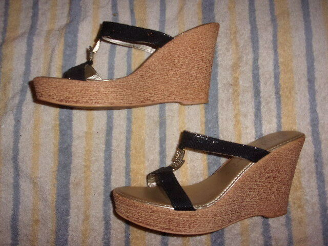 Italian shoesmakers WEDGE SANDALS WOMAN'S SIZE 11  (4.25 INCH HEEL)