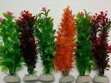"""Aquarium Artificial / Plastic Plant 6 in 1  for Decoration - 12"""" Height"""