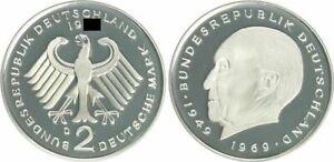 2 DM J.406 Adenauer 1972 F Special Condition: Proof 23563